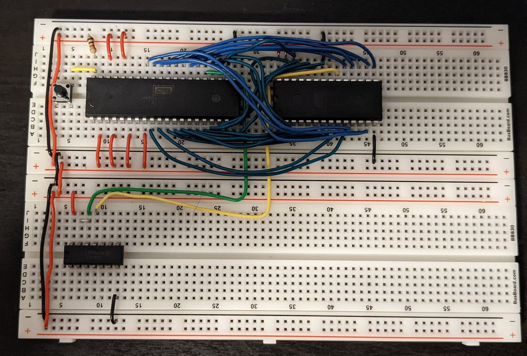 Bender is a 6502 breadboard computer. picture